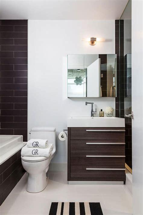 space saving tips  modern small bathroom interior