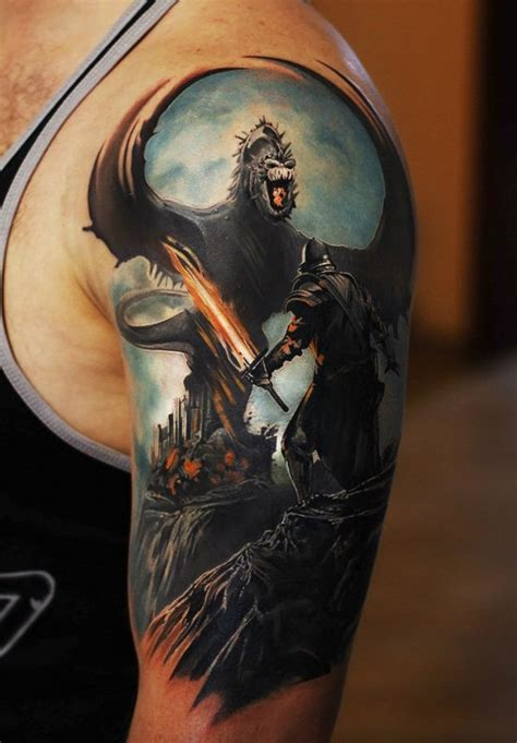 fighting warrior tattoos designbump