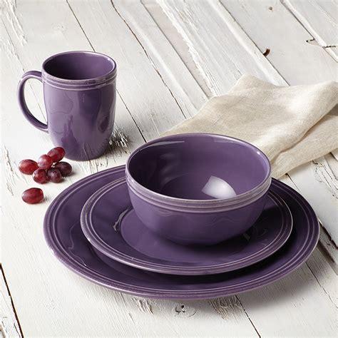 purple dinnerware ray stoneware rachael lavender dishes cucina piece kitchen items dishware casual violet dinner accessories pc decor overstock rachel