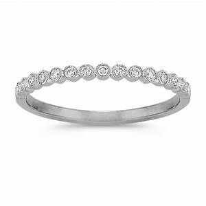 Bezel Set Round Diamond Wedding Band Shane Co
