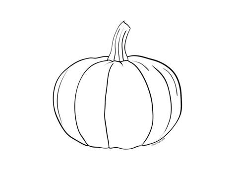 Best Pumpkin Outline Printable #22941