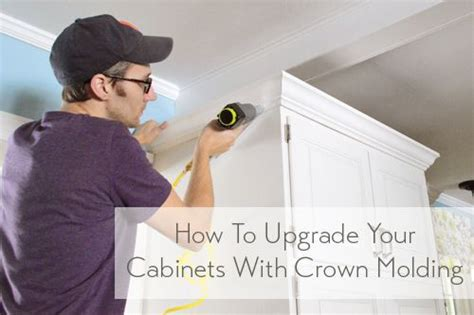 how to install crown molding on top of kitchen cabinets how to add crown molding to the top of your cabinets 9964