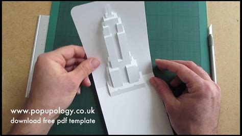 pop  empire state building card tutorial origamic