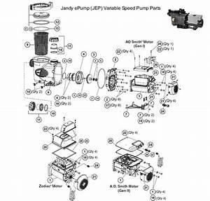 Jandy Epump  Jep  Variable Speed Pump Parts