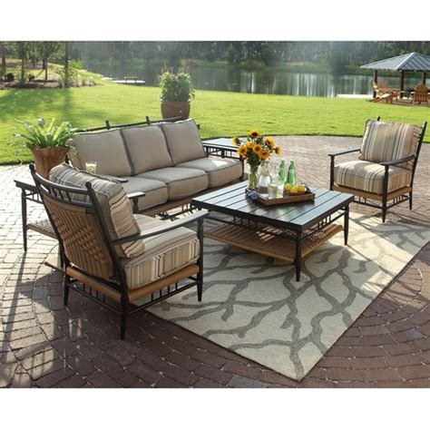 lloyd flanders low country wicker 6 patio lounge set lf lowcountry set1