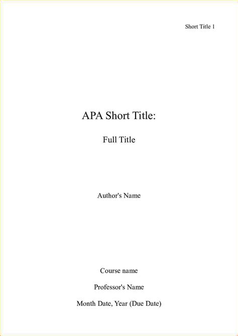 5 how to do a cover page apa bibliography format