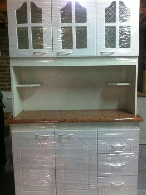 mueble de cocina compacto  cuerpos blanco  vidrio