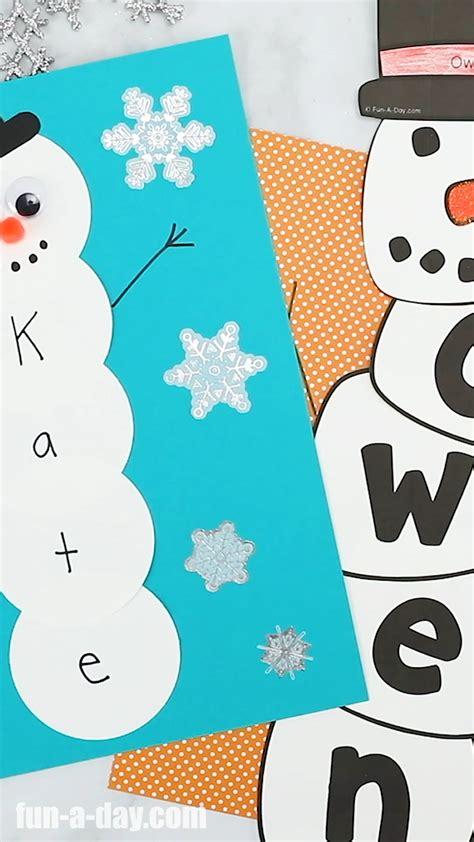 name snowman preschool craft and free printable name 297 | fb92631b68111dea7dbeeeb82245a424
