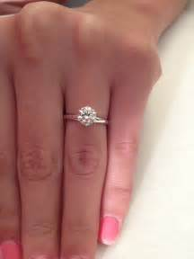 one carat engagement ring 1 ct cut solitaire engagement ring 14k white gold ebay