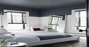 peindre un plafond avec une peinture couleur deco With plafond peint en couleur