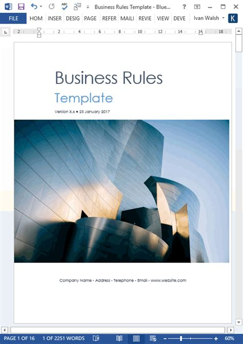 business rules templates ms wordexcel templates