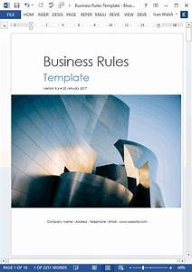 Where Can I Get Free Microsoft Word Business Rules Templates Ms Word Excel