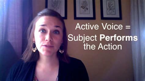 passive verbs passive active voice
