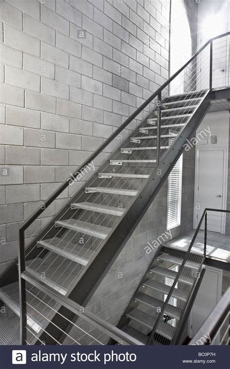 Industrial Metal Stairs Staircase Stock Photo 24603701