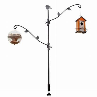 Bird Feeder Pole Poles Deck Multi Adjustable