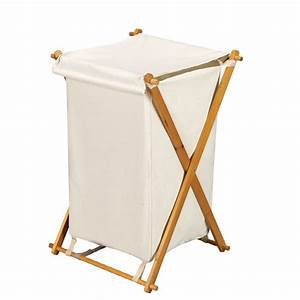 Shop Household Essentials Wood Clothes Hamper at Lowes com