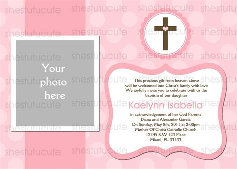 baptism card template girls baptism invitations digital file by shestutucutebtq