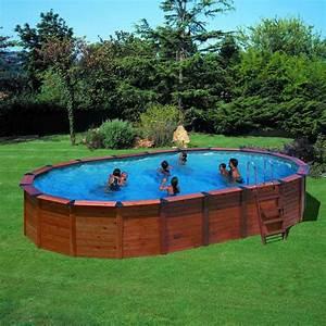 Piscine Hors Sol Acier Imitation Bois : piscine hors sol gre nature pool ovale x pas ~ Dailycaller-alerts.com Idées de Décoration