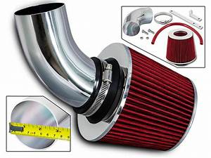 Sport Air Intake Kit   Red Dry Filter For 03