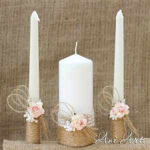 candles wedding rustic wedding set unity candles and chagne glasses country