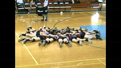 modesto hs jv volleyball huddle  thomas downey high