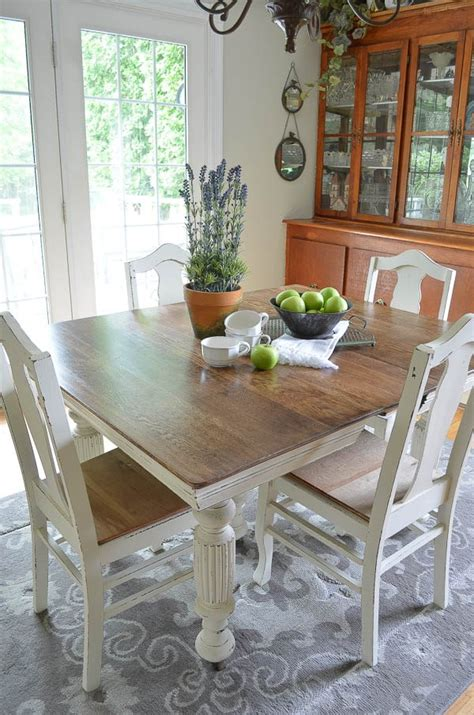 chalk paint grandmas antique dining table  chairs