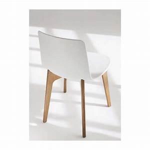 Chaise Bois Design : chaise design en polypropyl ne lottus pieds bois enea 4 pieds tables chaises et tabourets ~ Teatrodelosmanantiales.com Idées de Décoration