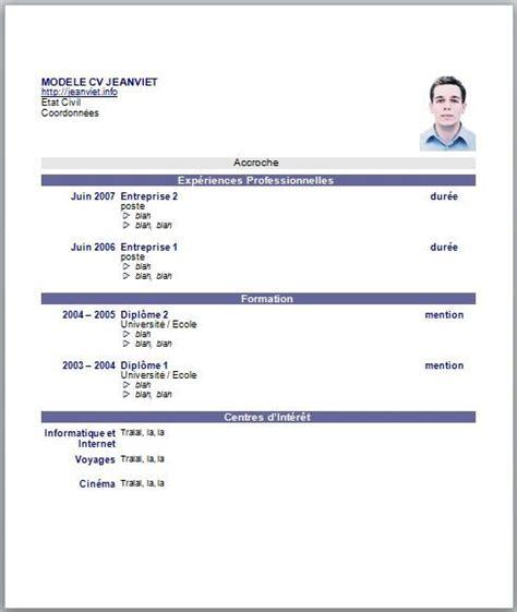 Cv Etudiant Modele by Exemple Cv Etudiant 17 Ans Organisation
