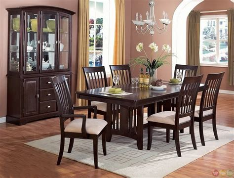 Dining Room Sets : Monaco Cappuccino Finish Casual Dining Room Set