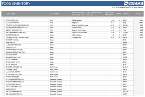 storage made easy screenshots saveenlarge food stocktake free template for excel