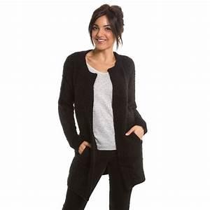 Gilet Long Noir Femme : gilet laine noir gilet femme court noir rlobato ~ Voncanada.com Idées de Décoration