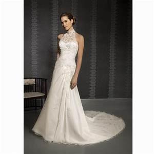 a line high neck sleeveless backless chapel train beaded With high neck sleeveless wedding dress