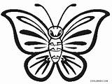 Butterfly Coloring Pages Printable Cool2bkids Outline Clipart Crazy sketch template