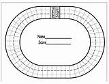 Race Track Coloring Printable Pages Math Facts Racing Board Bulletin Tracks Boards Data sketch template