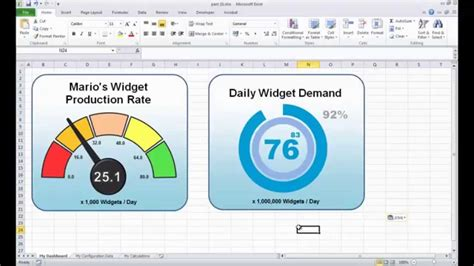 excel dashboard spreadsheet speedometer  youtube