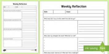 nqt weekly reflection writing template twinkl