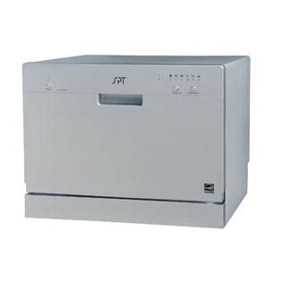 spt countertop dishwasher spt sd 2201s countertop dishwasher silver