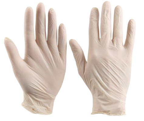 sarung tangan vinyl click pre powdered disposable gloves 100 pack the