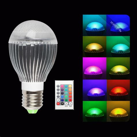 color changing light bulb 10w e27 e26 led 16 color changing rgb magic light bulb
