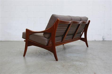 mid century modern organic teak sofa by de ster at 1stdibs