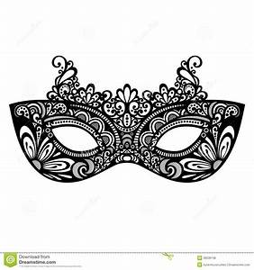 Carneval clipart venetian mask - Pencil and in color ...