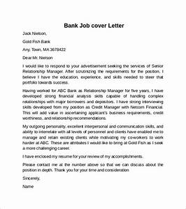 cover letter example for job 10 download free documents With examples of cover letters for banking jobs