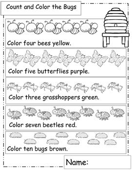 Bugs And Insects Math Worksheets, End Of The Year Activities Math Worksheets
