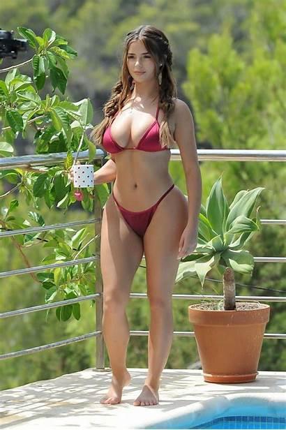 Demi Rose Bikini Mawby Booty Ibiza Pool