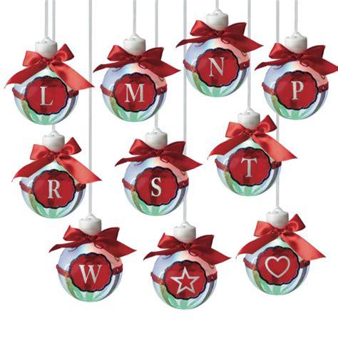led lighted monogram christmas ornaments letters   set