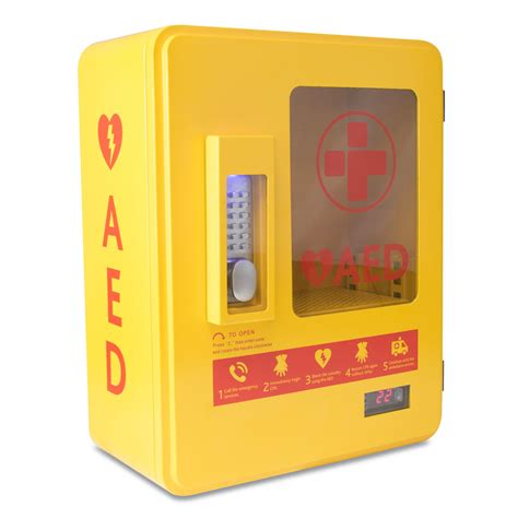Defibrillator Cabinet by Alarmed Heated Outdoor Aed Cabinet With Keypad Lock And