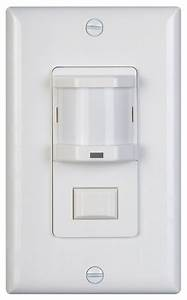 Vacancy Motion Sensor Switch Gives Auto Off  Manual On