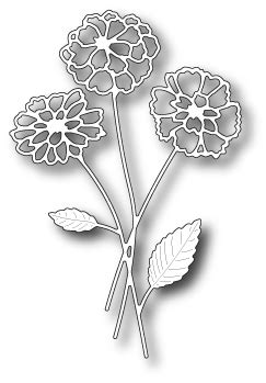 Memory Poppy Bouquet 98783 Zinnia Bouquet Memory Box Die