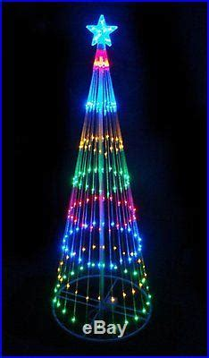 4 multi color led light show cone tree lighted