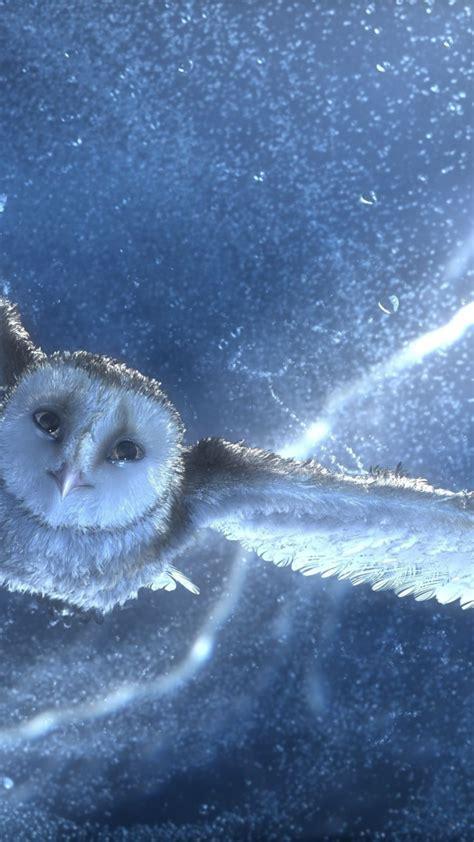 wallpaper owl flying snow storm lightning blue bird